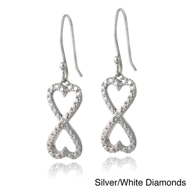 84f7edd23 DB Designs Sterling Silver Diamond Accent Infinity Hearts Dangle Earrings