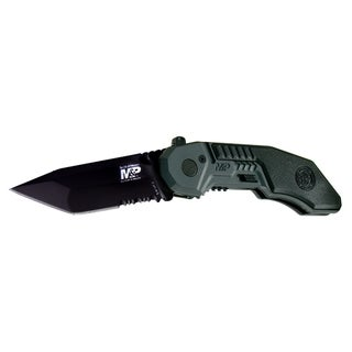 Smith and Wesson Military Police M.A.G.I.C. Black Serrated Tanto Knife