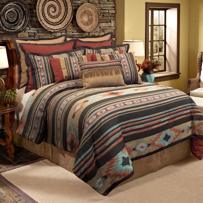 Grand Luxe Veratex Santa Fe Southwestern 4-piece Comforte...
