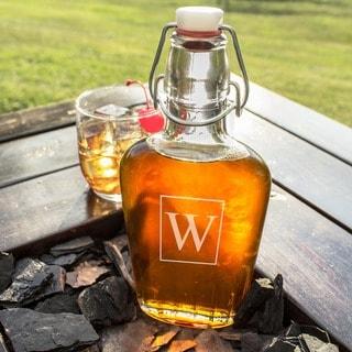 Personalized Swing Top Glass Flask Cruet