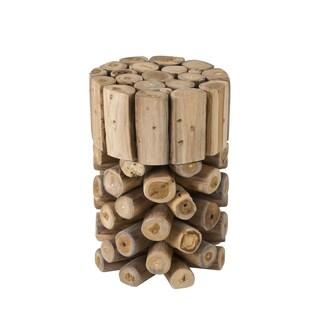Decorative Brown Rustic Natura Teak Wood Bar Stool