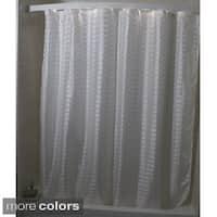 Criss Cross Box Weave Shower Curtain