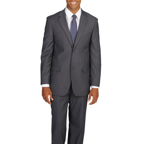 Caravelli Italy Men's Super 2-button Grey Suit