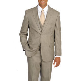 Caravelli Italy Men's Superior 150 Tan Vested Classic 3-piece Suit