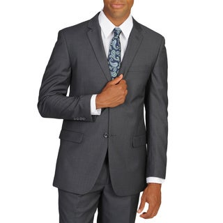 Caravelli Men's Slim Fit Pinstripe Grey Suit