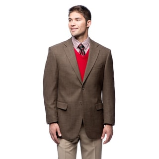 Prontomoda Italia Men's Wool Brown Blazer