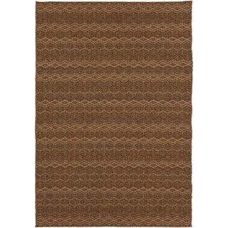 Izmit Meticulously Woven Brown Casual Solid Rug (5'3 x 7'6)