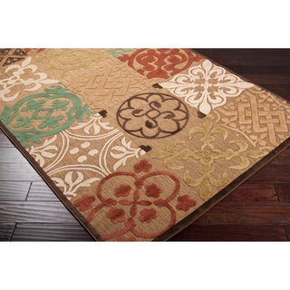 Vilma Meticulously Woven Beige Outdoor Geometric Rug (4'7 x 6'7)