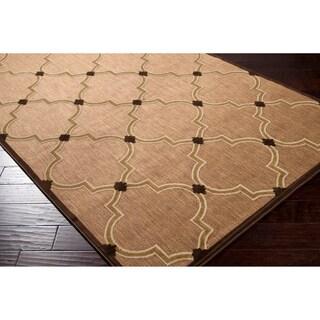 Sabantuy Meticulously Woven Tan Outdoor Geometric Rug (4'7 x 6'7)