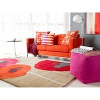 Hand-tufted Contemporary Floral Wool Area Rug