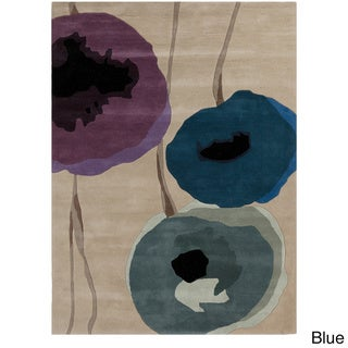 Hand-tufted Contemporary Floral Wool Rug (3'3 x 5'3)