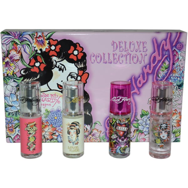 Ed Hardy Deluxe Collection Fragrance Gift Set For Women 4 Pc: Shop Ed Hardy Deluxe Collection Women's 4-piece Mini Gift Set