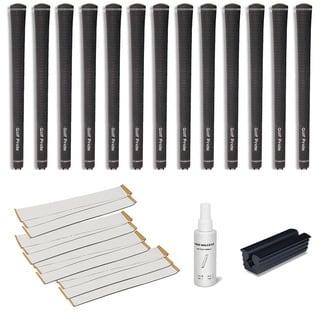 Golf Pride Tour Velvet Jumbo - 13pc Grip Kit (with tape, solvent, vise clamp)
