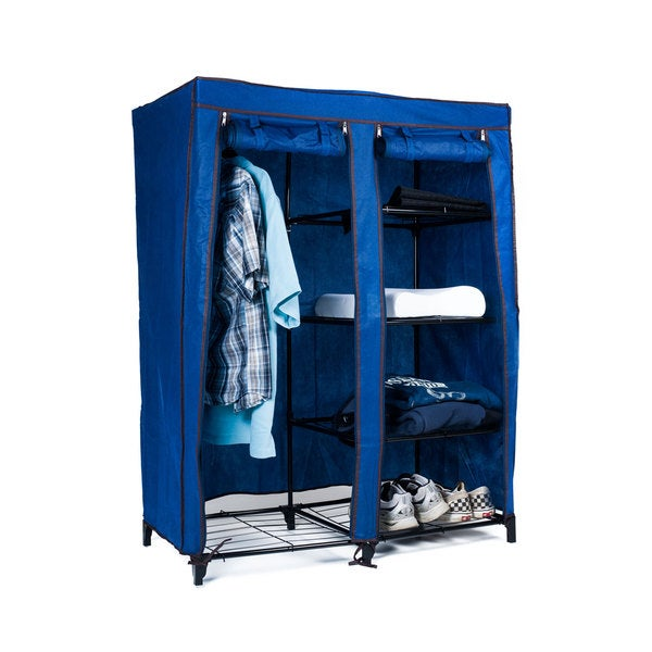 Trademark Home Navy Blue Portable Storage Closet