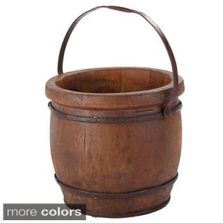 Wooden Barrel Decorative Bucket|https://ak1.ostkcdn.com/images/products/8232995/P15562016.jpg?impolicy=medium