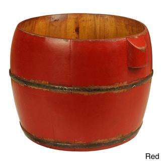Round Household Decorative Bucket (Red)