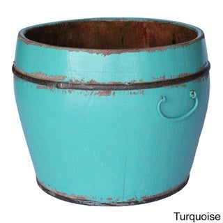 Round Household Decorative Bucket (Green)
