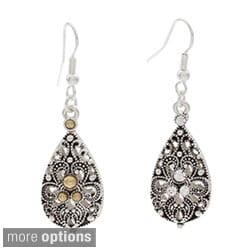 NEXTE Jewelry Silvertone Baroque Shape Earrings