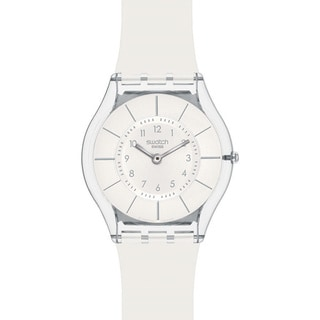 Swatch Women's Skin White Resin Quartz Watch