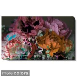 Studio Works Modern 'Scented Bloom - Orange Pink' Gallery Wrapped Canvas Art