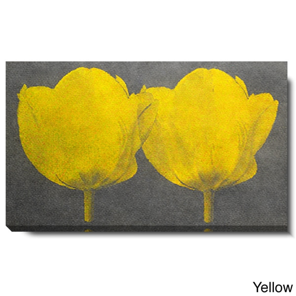 Studio Works Modern \'Twin Tulips - Yellow\' Gallery Wrapped Canvas ...