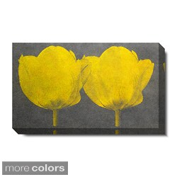 Studio Works Modern 'Twin Tulips - Yellow' Gallery Wrapped Canvas Art