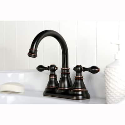 Classic High Spout Oil-rubbed Bronze Bathroom Faucet