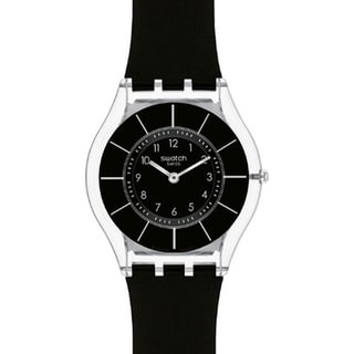 Swatch Women's Skin Black Silicone Swiss Quartz Watch