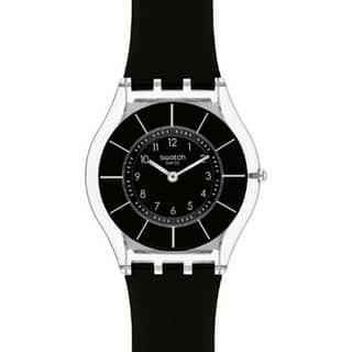 Swatch Women's Skin Black Silicone Swiss Quartz Watch|https://ak1.ostkcdn.com/images/products/8233125/8233125/Swatch-Womens-Skin-Black-Silicone-Swiss-Quartz-Watch-P15562102.jpg?impolicy=medium