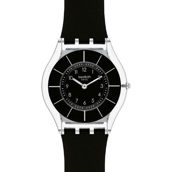Shop Swatch Women S Skin Black Silicone Swiss Quartz Watch