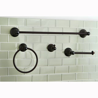 Oil-rubbed Bronze 4-piece Bathroom Accessory Set