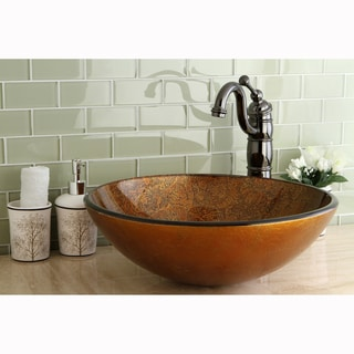 Round Tuscany Tempered Glass Vessel Sink