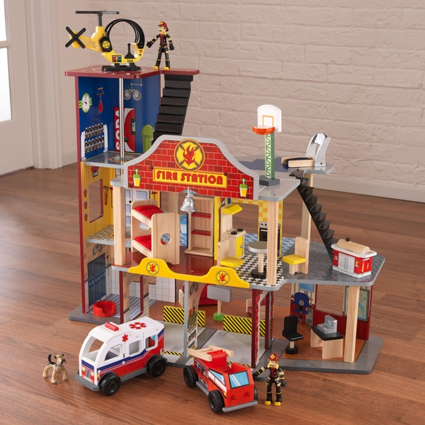 Overstock Toys For Boys : Kidkraft deluxe fire rescue set free shipping today