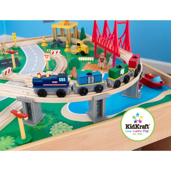 KidKraft Waterfall Mountain Train Set And Table   Free Shipping Today    Overstock.com   15562158