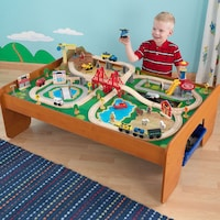 KidKraft Waterfall Mountain Wood Train Set and Table - Free Shipping ...