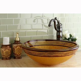 Euro Brown Tempered Glass Vessel Sink