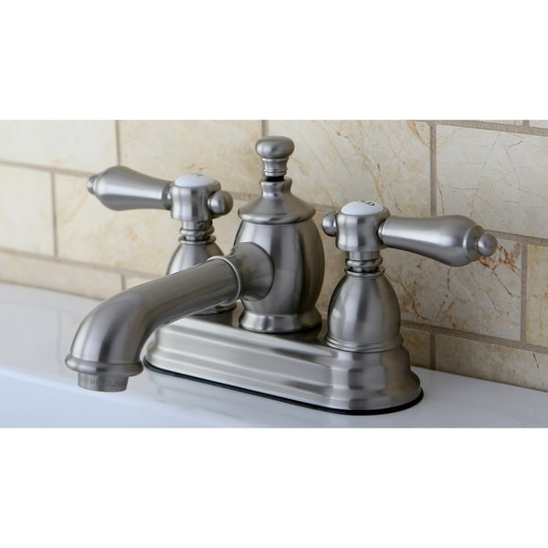 Shop Satin Nickel 4 Inch Centerset Bathroom Faucet Free