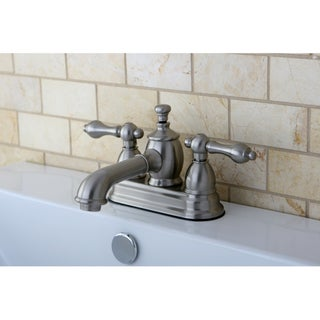 French Country Satin Nickel 4-inch Centerset Bathroom Faucet
