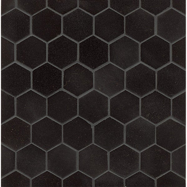 Shop Absolute Black Granite Hexagon Mosaic Polished Box