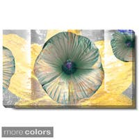 Studio Works Modern 'Moon Flower - Yellow' Gallery Wrapped Canvas Art