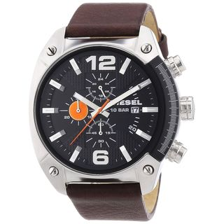 Link to Diesel Men's Brown Leather Analog Black Dial Quartz Watch Similar Items in Men's Watches