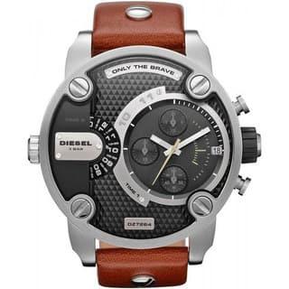 Diesel Men's Black Dial Dual Time Watch|https://ak1.ostkcdn.com/images/products/8233255/8233255/Diesel-Mens-Black-Dial-Dual-Time-Watch-P15562214.jpg?impolicy=medium