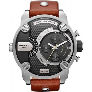 Diesel Men's Black Dial Dual Time Watch