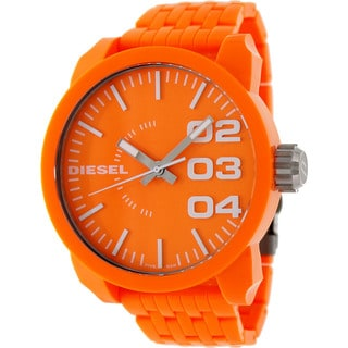 Diesel Men's Orange Plastic Orange Dial Quartz Watch