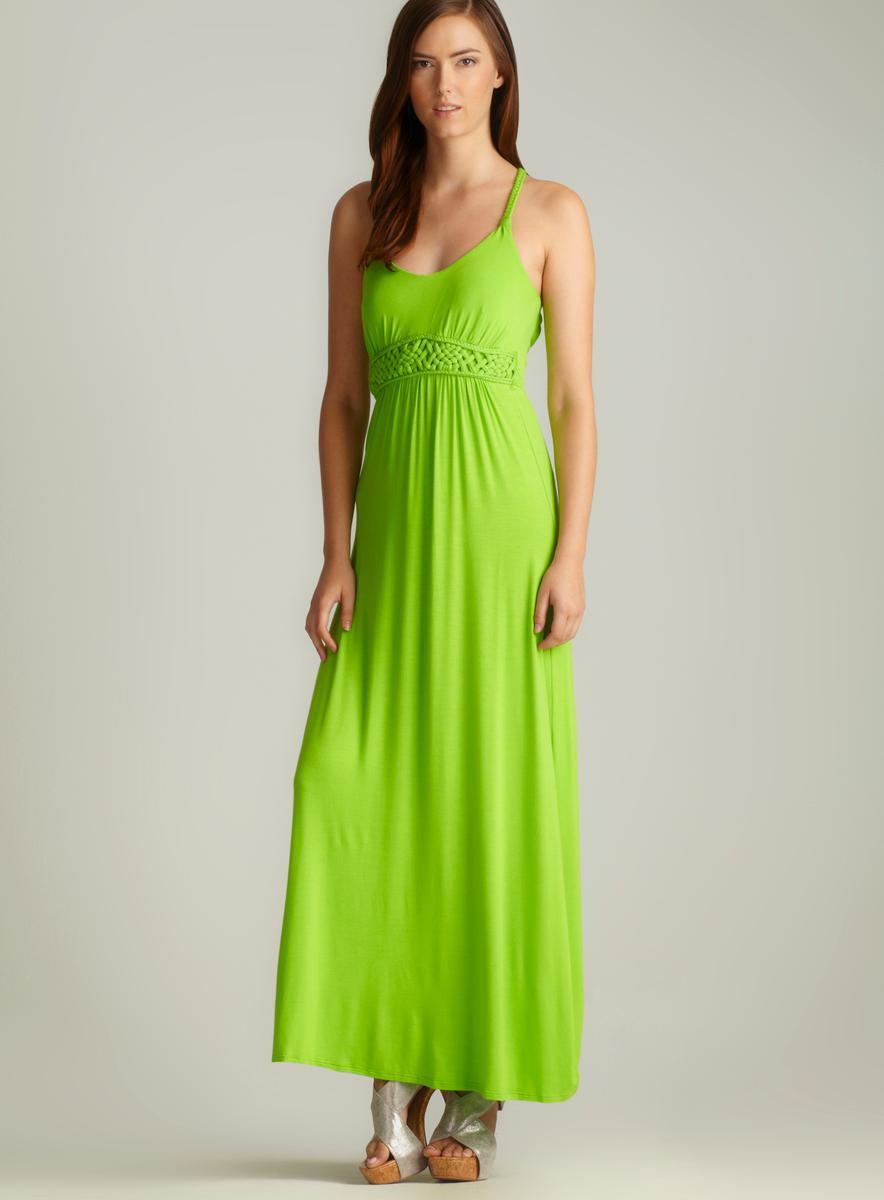 4127f0827ed0f Moa Moa V-Neck Braided Strap Maxi Dress