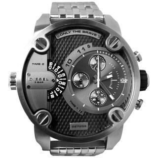 Diesel Men's DZ7259 Silver Stainless-Steel Quartz Watch with Grey Dial