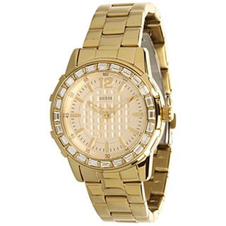 Guess Women's U0018L2 Gold Stainless-Steel Quartz Watch with Gold Dial