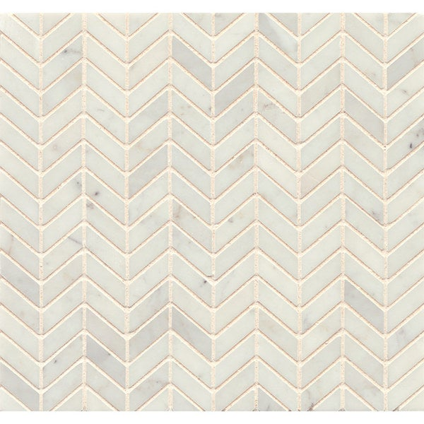 White Carrara Marble Chevron Mosaic Polished (Box of 10 sheets). Opens flyout.