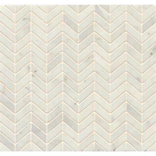 White Carrara Marble Chevron Mosaic Polished (Box of 10 sheets)|https://ak1.ostkcdn.com/images/products/8233425/White-Carrara-Marble-Chevron-Mosaic-Polished-Box-of-10-sheets-P15562324.jpg?impolicy=medium
