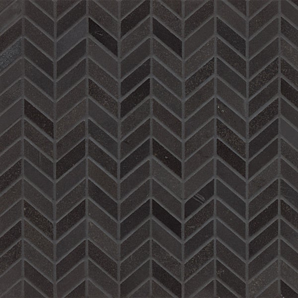 Absolute Black Granite Chevron Mosaic Polished Tiles Box